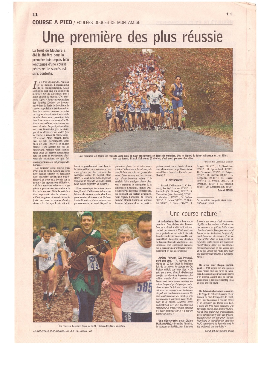 article 1ere course montamisé 23-11-2003